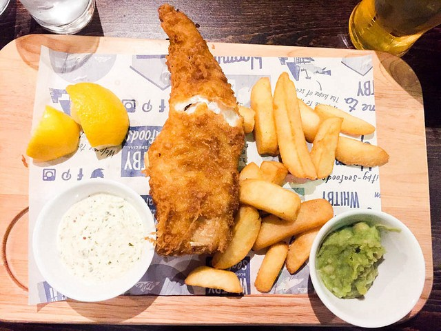 Fish and Chips at Camden - Birmingham Taxi